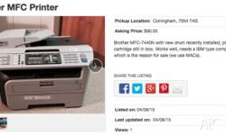 Brother MFC-7440N prints, scans, copies & faxes - with