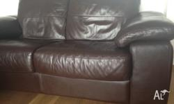 Beautiful as new soft brown real leather sofa for sale.