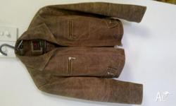 Brown leather jacket Perfect condition Great fashion