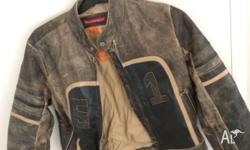 Bruno Zaragoza Genuine leather jacket. Bikers style