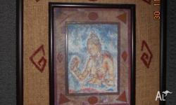 Beautiful buddha picture purchased while in Sri Lanka.