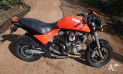 Offered is a low km (6350mls�10,600km) 2003 Buell M2
