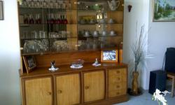 2 piece Solid timber buffet with 3 doors and shelves,
