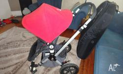 Bought in 2008, this Red/Black Bugaboo is in