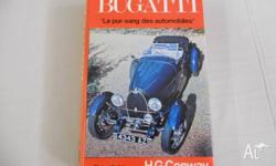 "The book of Bugatti titled ""Le pur-sang des"