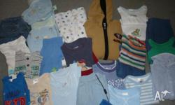 BULK LOT OF BABY BOY CLOTHES SIZE 00 IN EXCELLENT