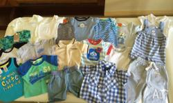 000 summer pack - 9 onesies, 5 tshirts (3 are bnwt), 1