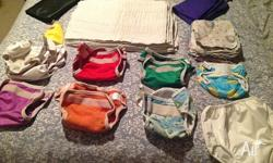 Bulk cloth nappies plus extras !! Crawler size About