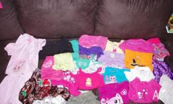 Bulk girls size 1 summer clothing $15 lots of shirts,