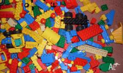 Most pieces are genuine Lego Duplo and there are some