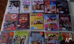 hi selling a heap of dvds some new and some 2nd