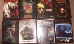 for sale bulk lot of horror movies 42 dvds all for $85