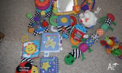 Bulk Lot of Lamaze Infant Toys & Books Ring Stacker