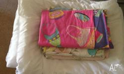 3 single girls spread bed,3 single doona cover,1 single