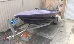 Bullet speed boat good project boat Both trailer and
