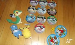 10 books, plush toys some are new and a ball and catch
