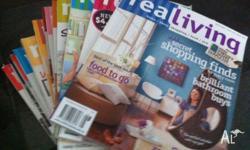 Bundle of REAL LIVING magazines - 13 Great home ideas,