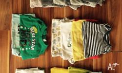 Summer baby boys clothing bundle Size 0 10 onesies 1
