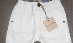 Authentic Burberry shorts White, size 9 months BRAND