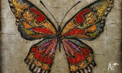 Beautiful multi coloured butterfly. Hand crafted and