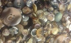 I have brown vintage buttons all shades all sizes 100