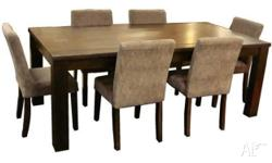 High quality dining table + chairs for sale. Great
