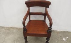 Gorgeous little antique CEDAR children's chair/armchair