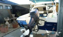 2007 oil injected yamaha,boat motor, tilt trailer all