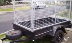 8X5 HEAVY DUTYTRAILER WITH2 FOOT GALVANIZED COLAPSABLE