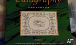 Calligraphy book and gift set, includes 6 ink