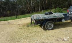 6x4 Trailer, Heavy duty canvas in good condition,