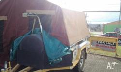 custom made camper trailer with queen size innerspring
