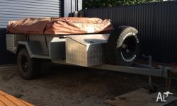 Heavy duty camper trailer 4x4 off road out back, treg