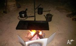 CAMP FIRE BBQ. - PIVOTS�SLIDES ON STAKE Australian made