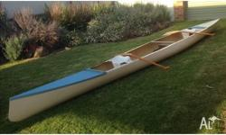 Canadian racing canoe in pretty good condition, no