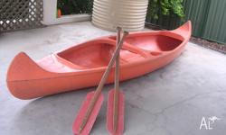 2 person CANOE Molded Hard Plastic, 3.6 meter long, 900