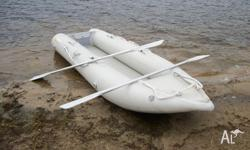 "Inflatable ""Islander"" brand canoe weight 54kg seats 2"
