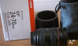I am selling a Canon 24-70mm F2.8 L series lens in