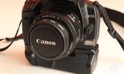 Up for sale is my EOS 400D camera which I owend it