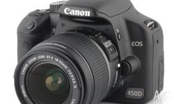 Canon EOS 450 D Digital SLR camera. Warranty until 15