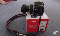 Canon 450d camera 18-55 lens Camera in very good