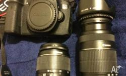canon 60d with twin lens kit (18-55mm and 55-250mm) I