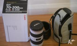 I have for sale my Mint Condition Canon 70-200mm f2.8 L
