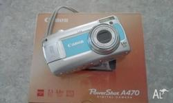 "MODEL : CANON POWERSHOT A 470 2.5"" LCD DISPLAY,"