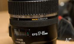 Canon EF-S 17-85mm f/4-5.6 IS USM Lens Very good