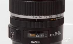 Canon EF-S 17-85mm f4-5.6 IS USM lens in excellent