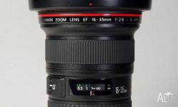 Brand new Canon EF 16-35mm f2.8L II USM Lens for sale.
