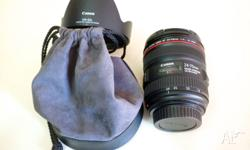 Up to sell is Canon EF 24-70mm f�4.0 IS L USM lens. It