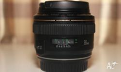 For sale is a Canon EF 28mm f1.8 USM. Purchased from