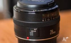Canon EF 28mm f2.8 lens perfect condition very nice